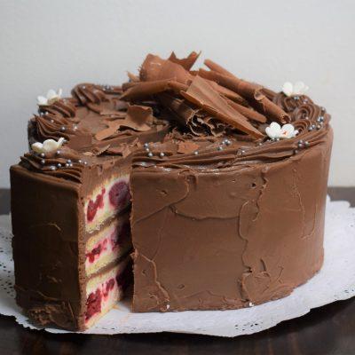 Torta de Panqueque Chocolate Frambuesa (15 personas)